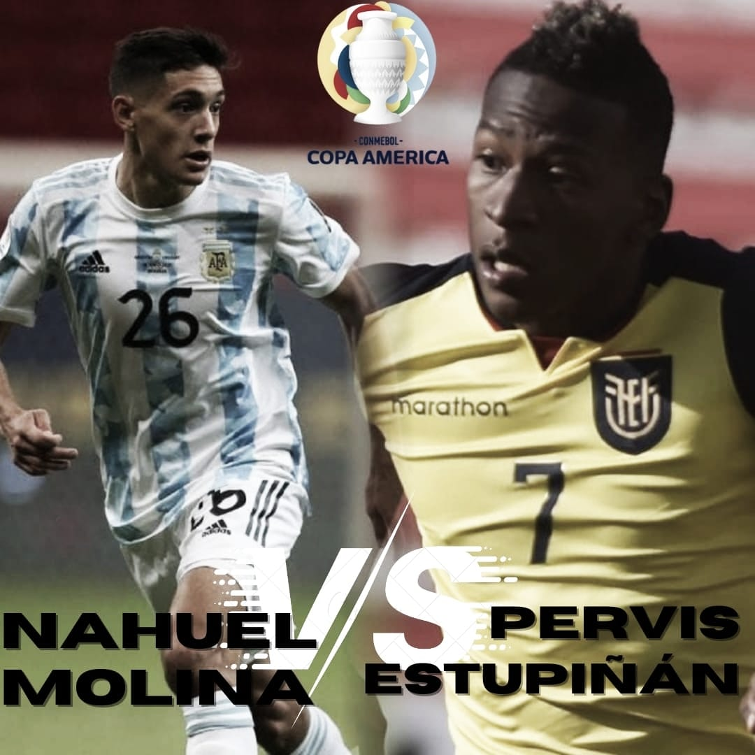 Nahuel Molina vs Pervis Estupiñán: Efectividad por la banda.