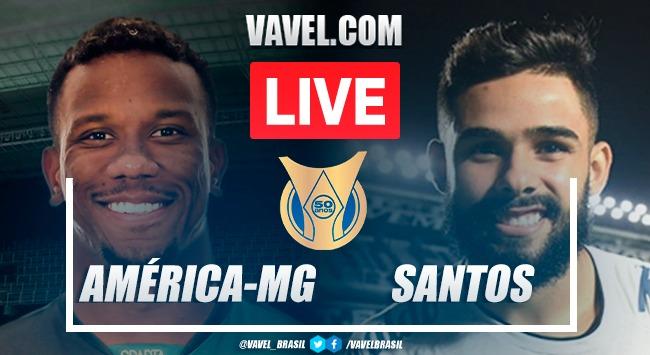 Gols e melhores momentos América-MG x Santos pelo Campeonato Brasileiro (2-0)