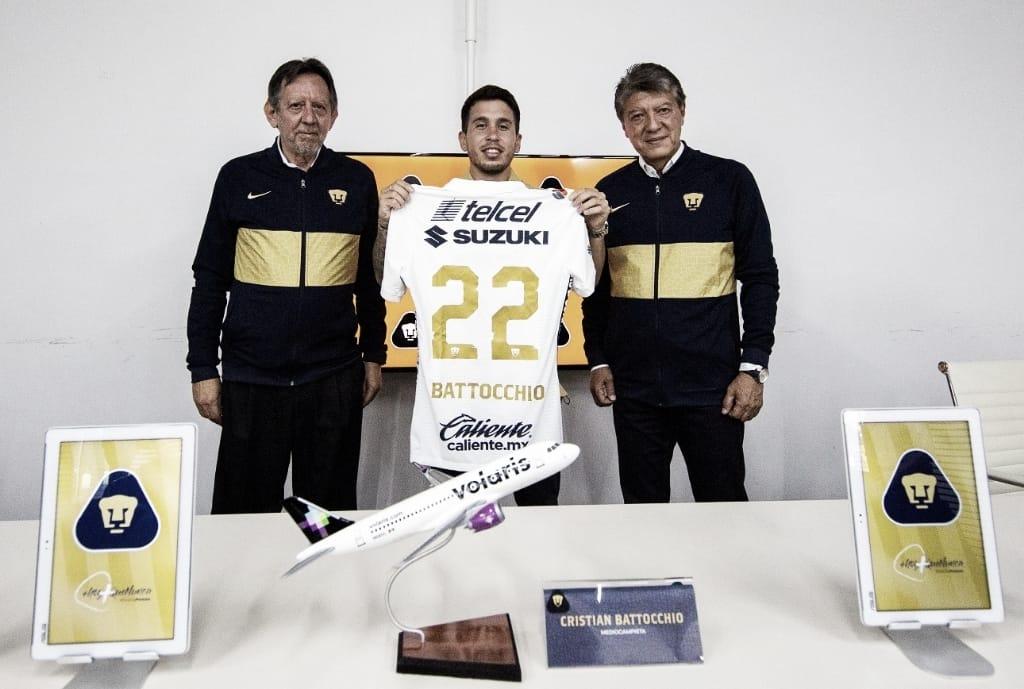 Cristian Battocchio nuevo jugador de Pumas