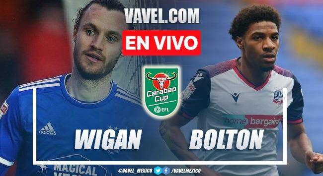 Goles y resumen del Wigan 0(5)-(4)0 Bolton en Carabao Cup