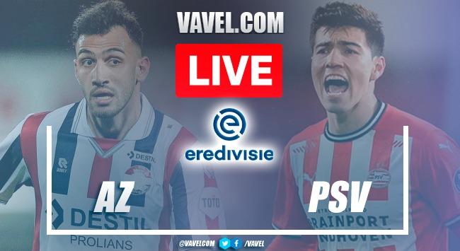 Goals and Highlights: AZ Alkmaar 0-3 PSV in 2021 Eredivisie