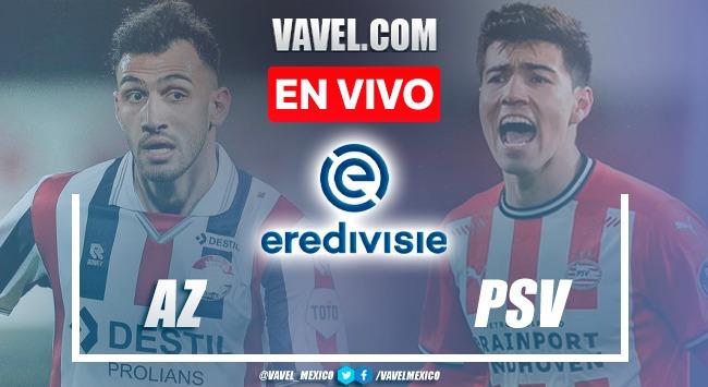Goles y resumen del AZ Alkmaar 0-3 PSV en Eredivisie 2021