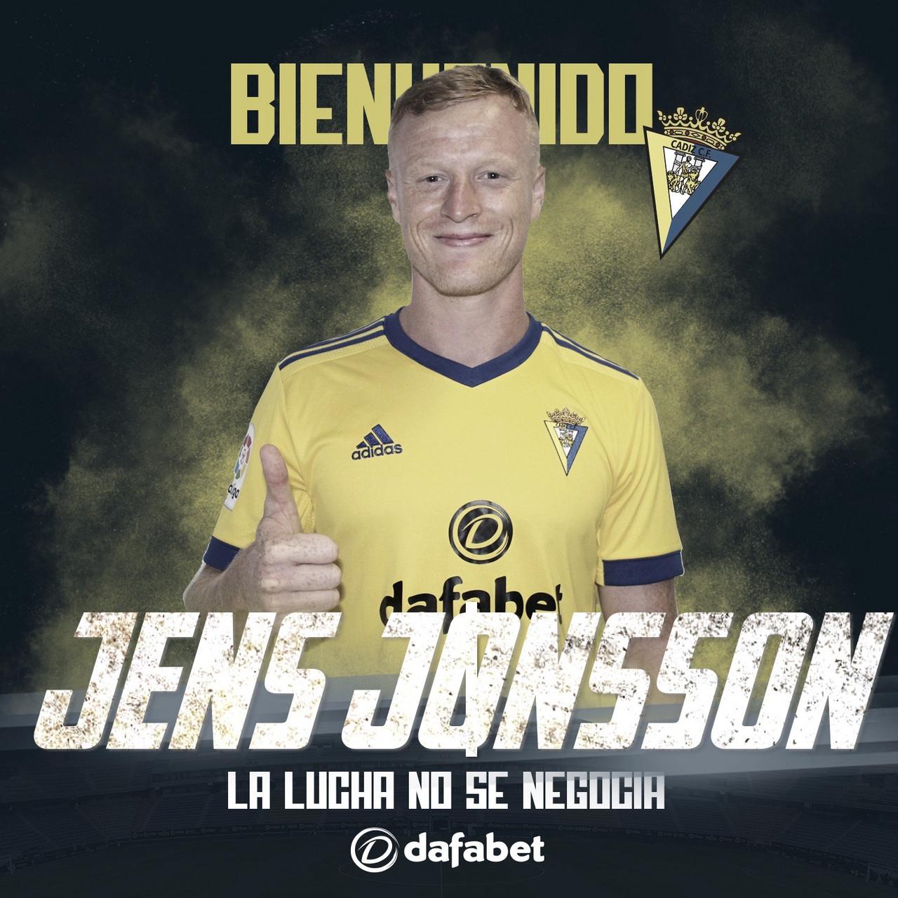 Oficial: Jens Jonsson, nuevo jugador del Cádiz CF