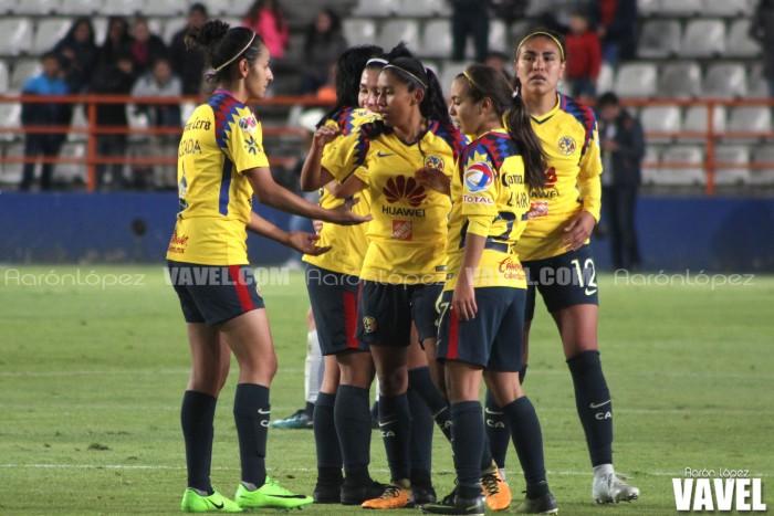 Imágenes del Pachuca 2-3 América; Jornada 2 Clausura 2018 Liga MX Femenil