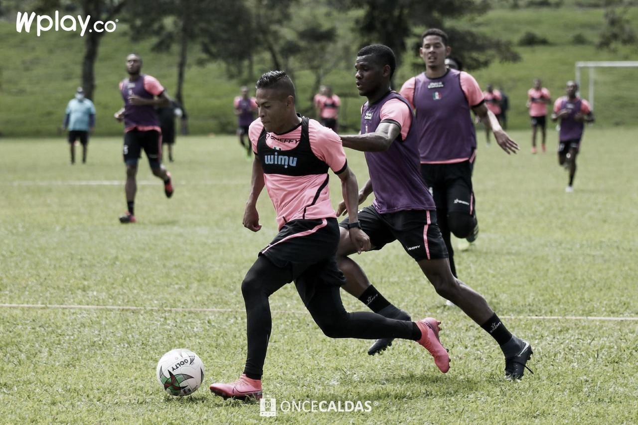 David Lemos, el jugador destacado del Once Caldas ante Atlético Bucaramanga