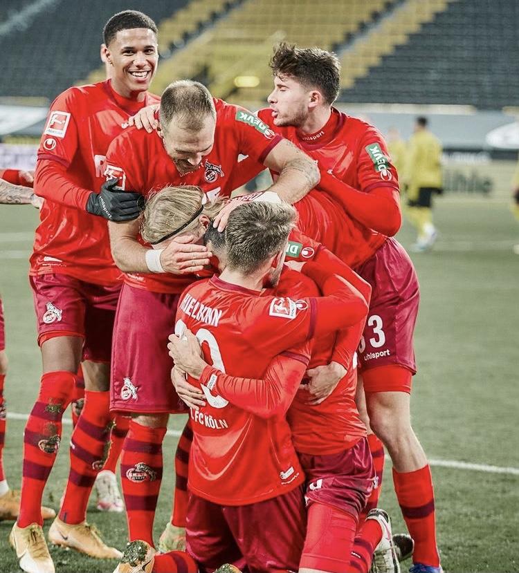 La celebración del segundo gol de Skhiri (@fckoeln)