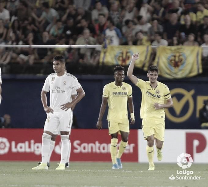 Gerard Moreno celebrando un gol ante el Real Madrid| Fuente: LaLiga Santander