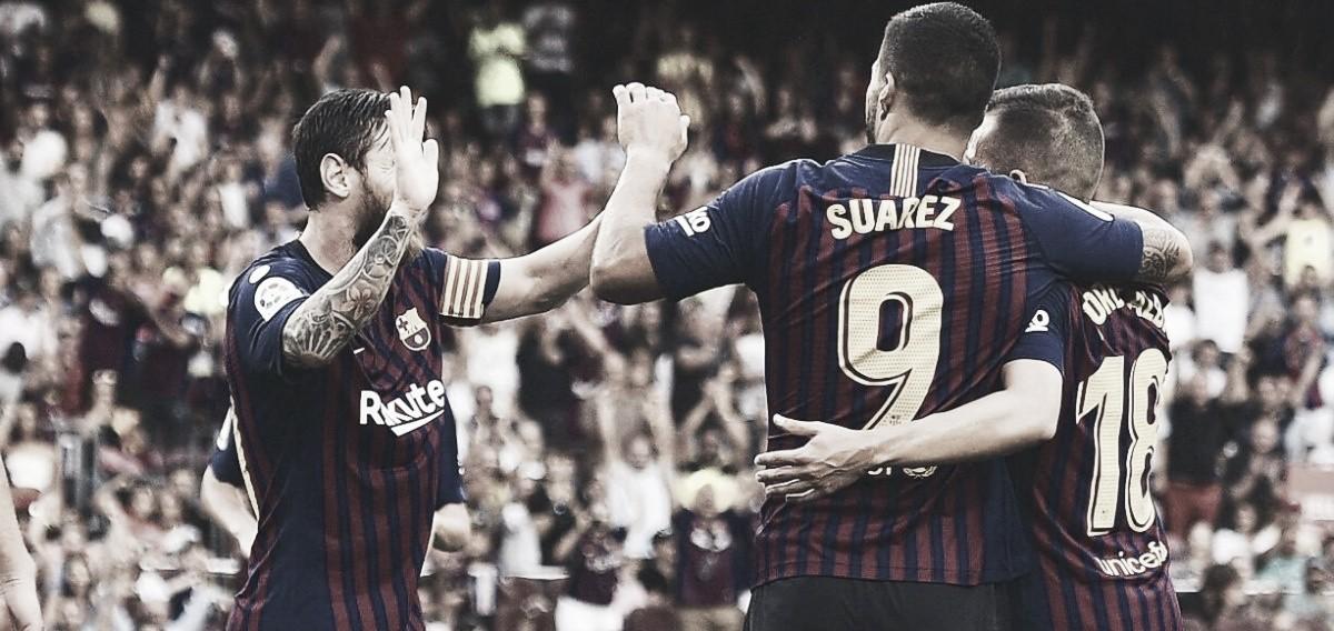 El Barcelona es líder después de anotar 8 goles
