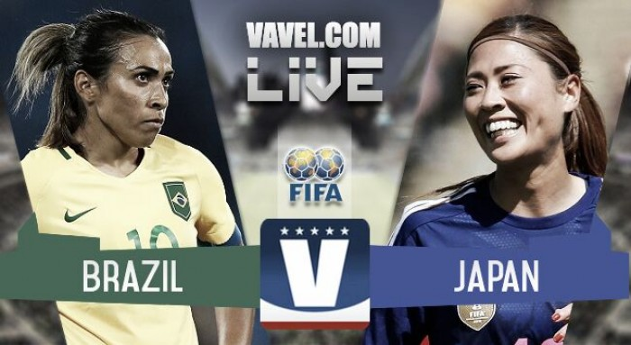 Results and Goals Brazil 1-1 Japan in 2017 Tournament of Nations