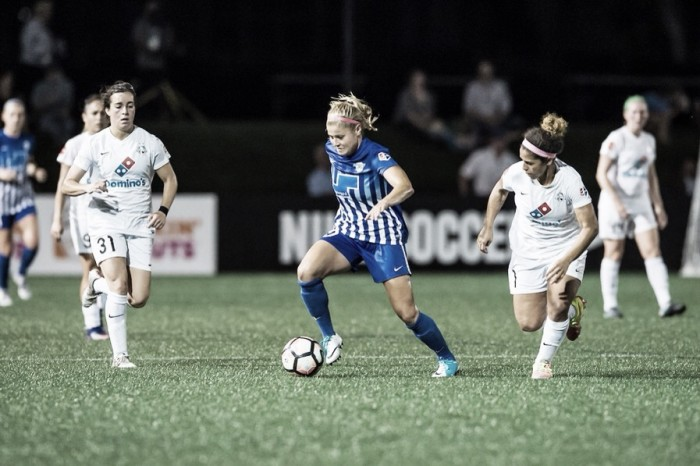 Breakdown of the four goals between the Boston Breakers and FC Kansas City's 2-2 draw