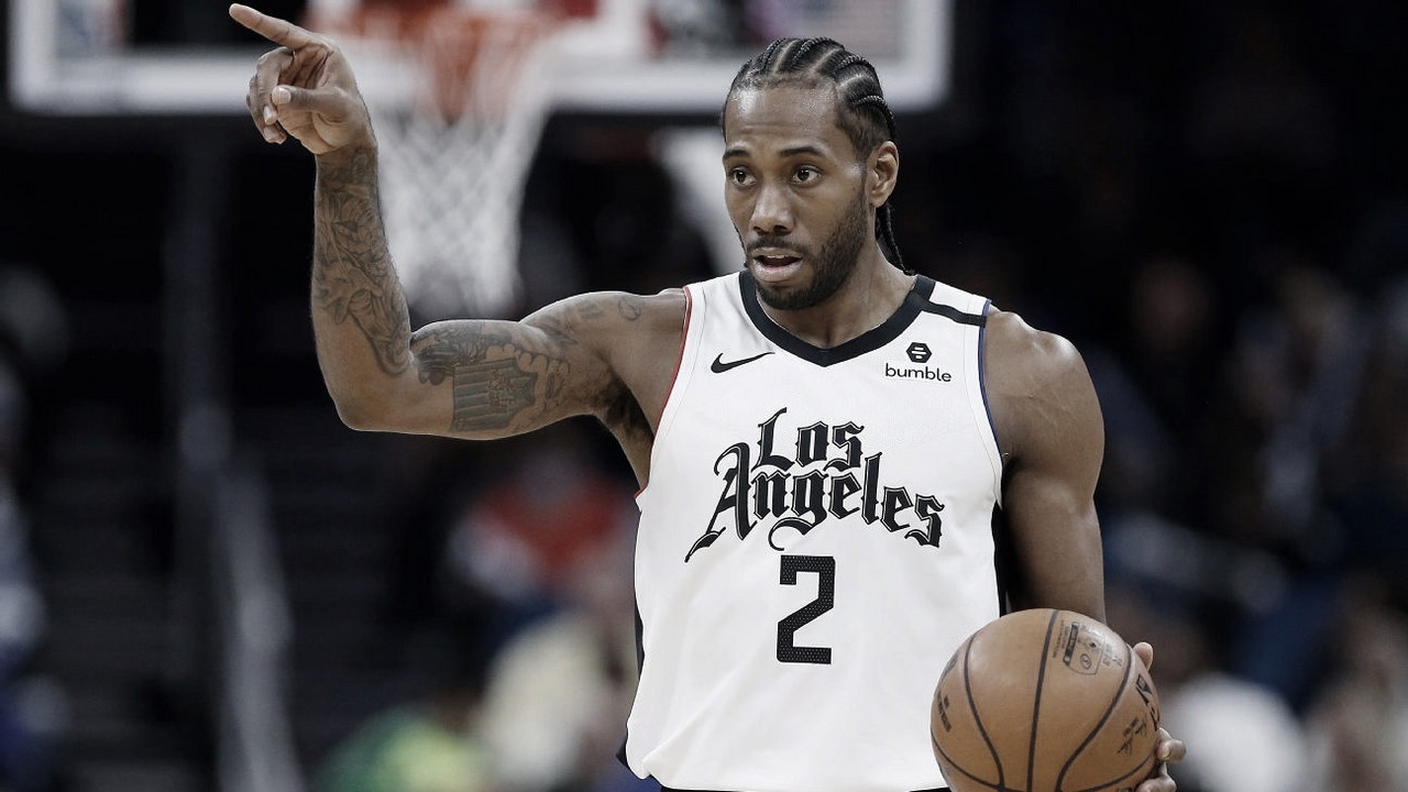 "Kawhi Leonard: ""It doesn't matter about a statement on the back of our jerseys, it's about doing the work"""