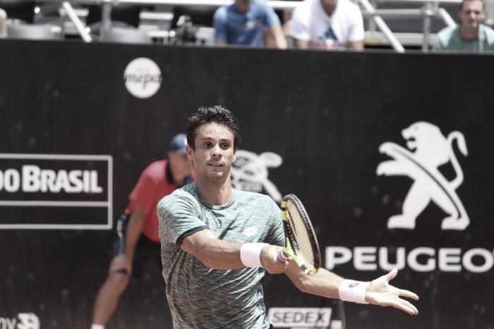 Rogério Dutra Silva perde para italiano na estreia do Brasil Open 2017