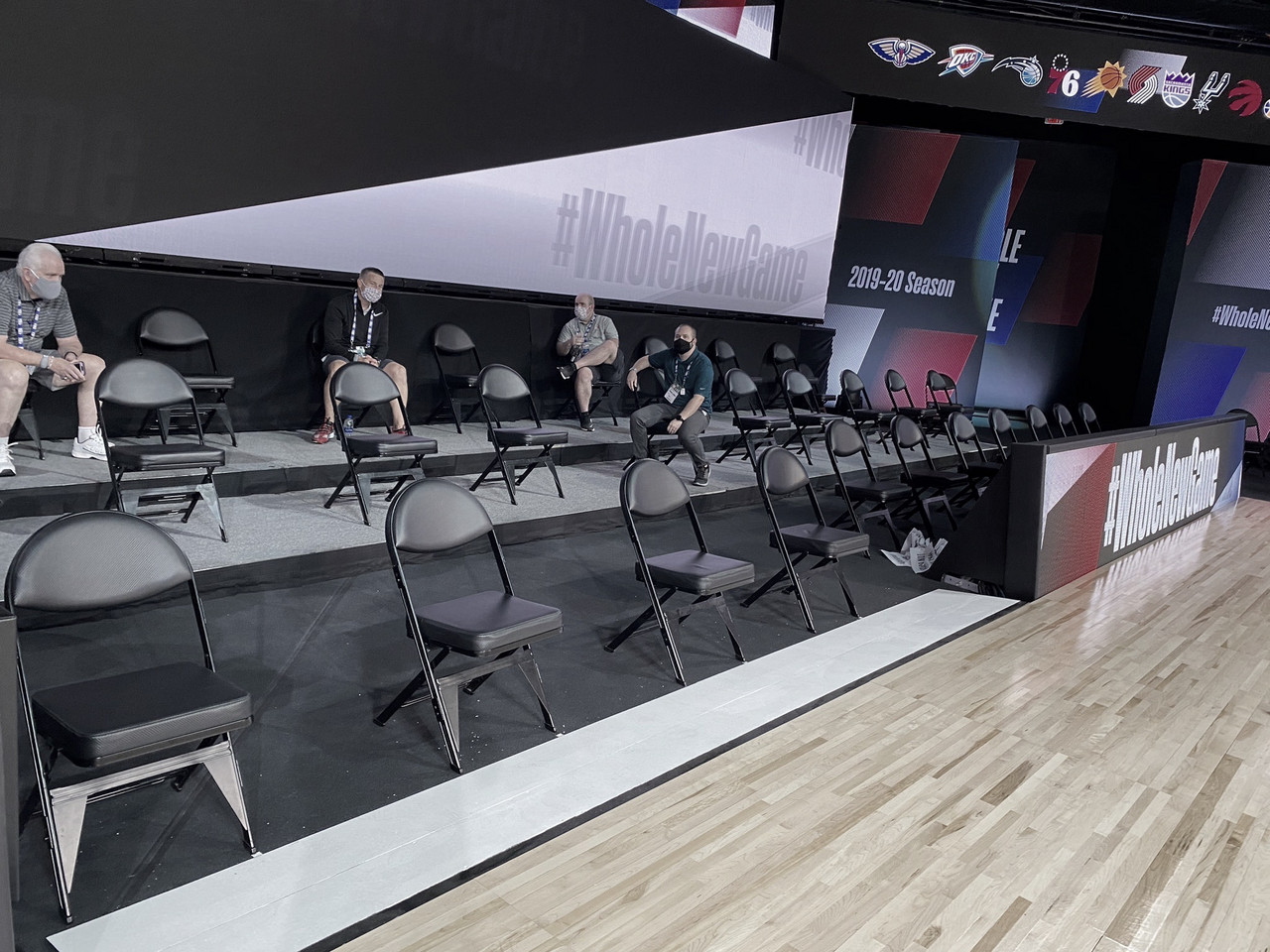League Instals Movable 'Timeout Chairs'