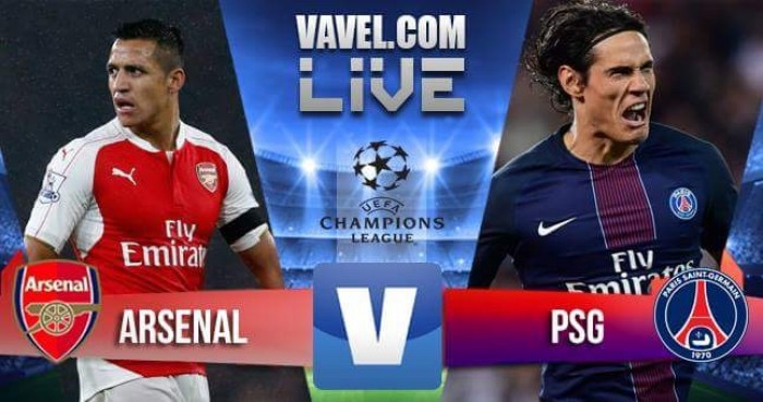 Risultato Arsenal - PSG in Champions League 2016/17 - Cavani, Giroud, Verratti (A), Lucas! (2-2)