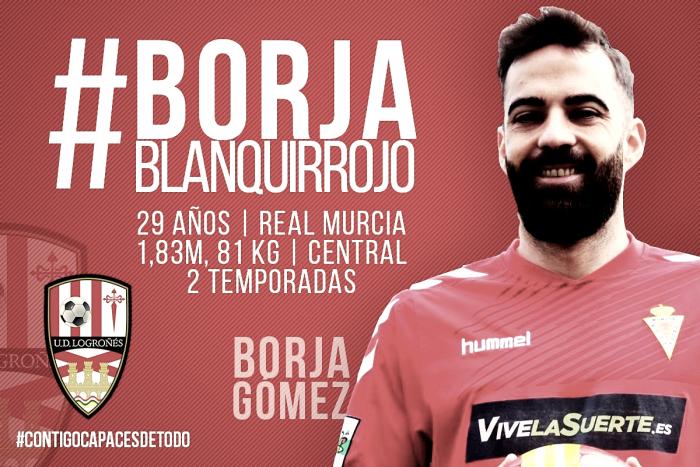 Borja Gómez completa la defensa de la UD Logroñés