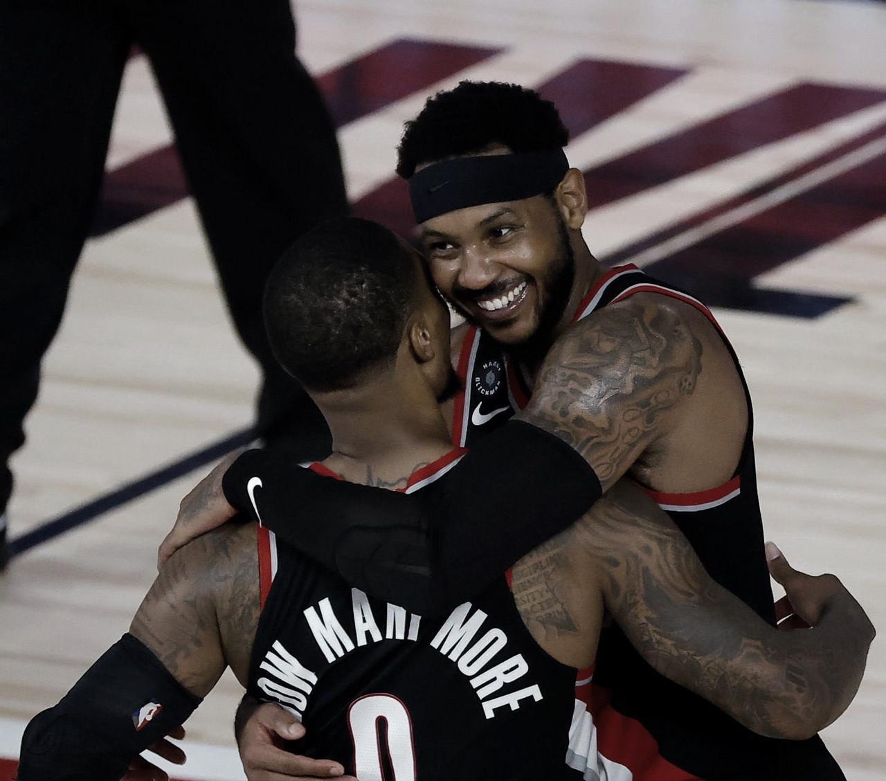 Carmelo Anthony Praises Damian Lillard