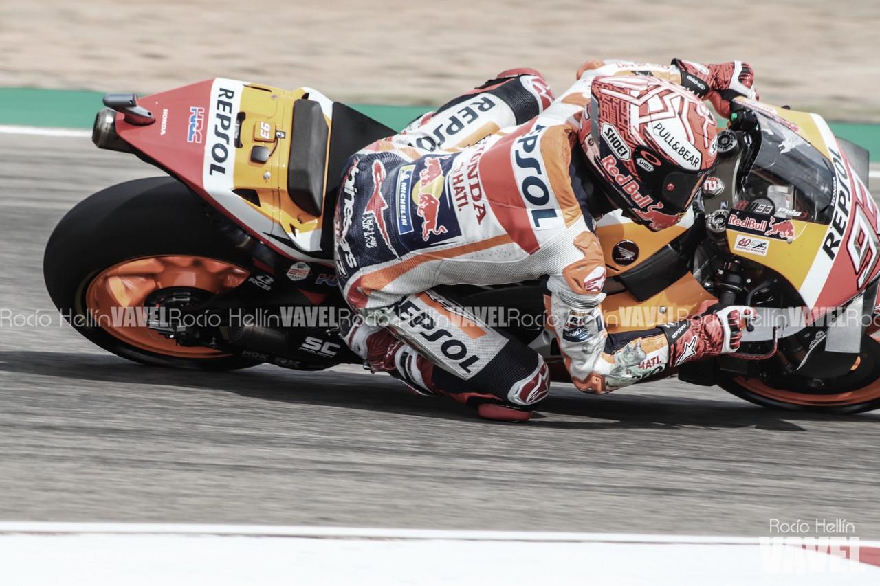 Márquez marca el mejor crono de la jornada del viernes pese a la caída en la FP2
