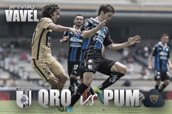 Previa Querétaro - Pumas: con la cima en la mira