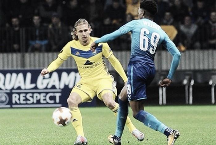 Resumen Arsenal 6-0 Bate Borisov en Europa League 2017