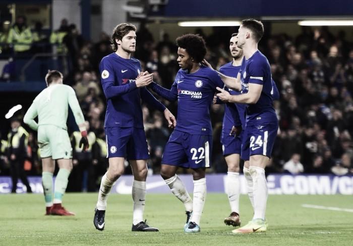 El Chelsea golea al Stoke sin despeinarse