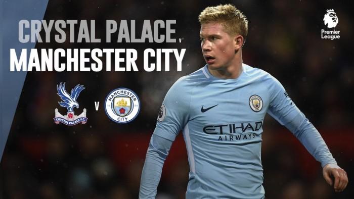 Resumen Crystal Palace 0-0 Manchester City en Premier League 2017