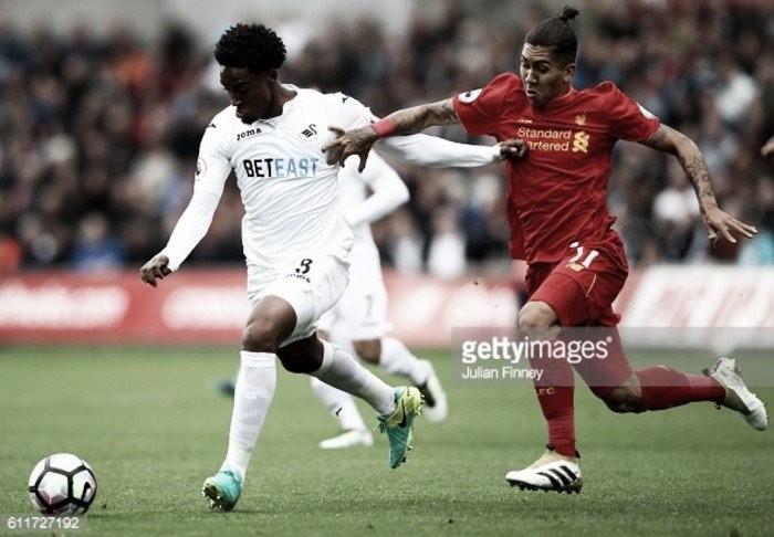 Swansea 1-0 Liverpool en Premier League 2018