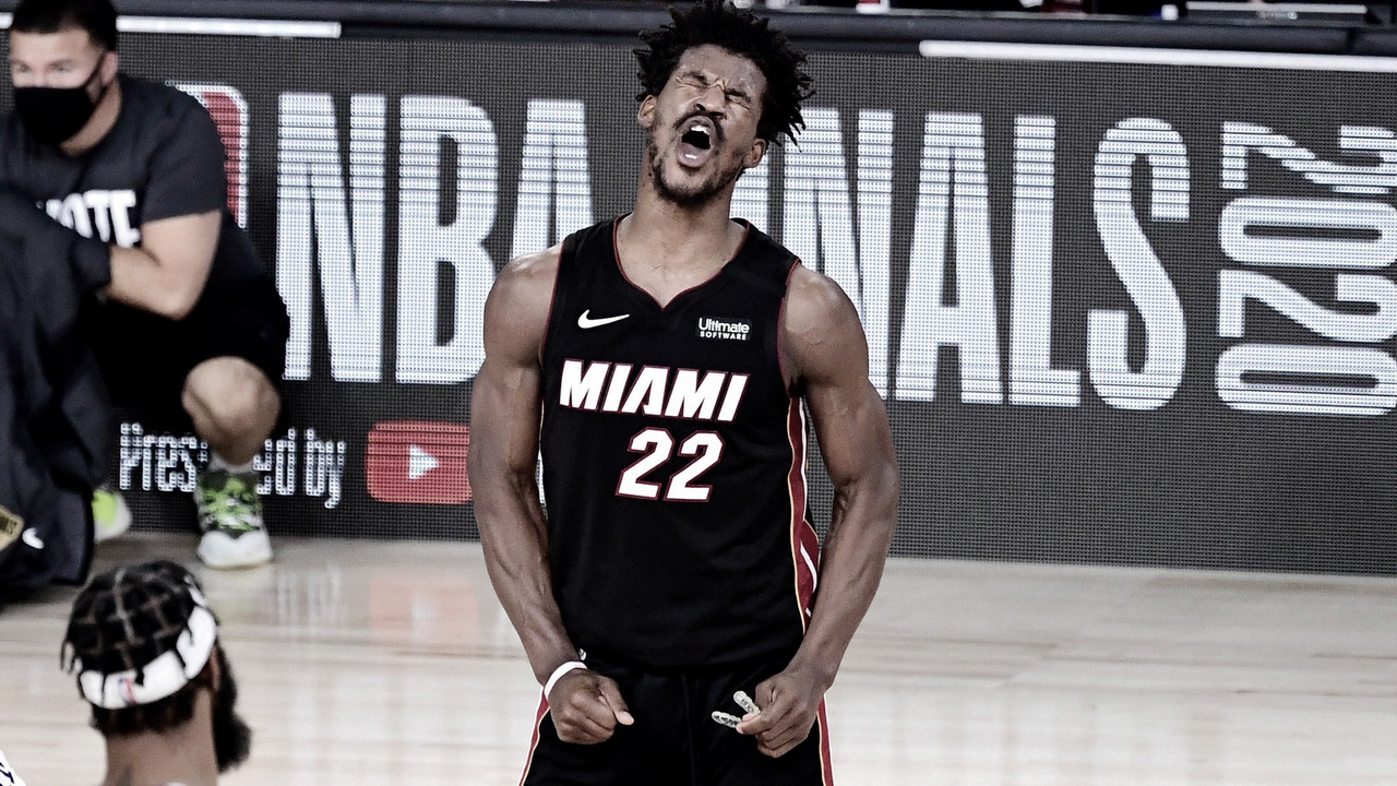 Butler Leads Heat to First Win in 2020 Finals