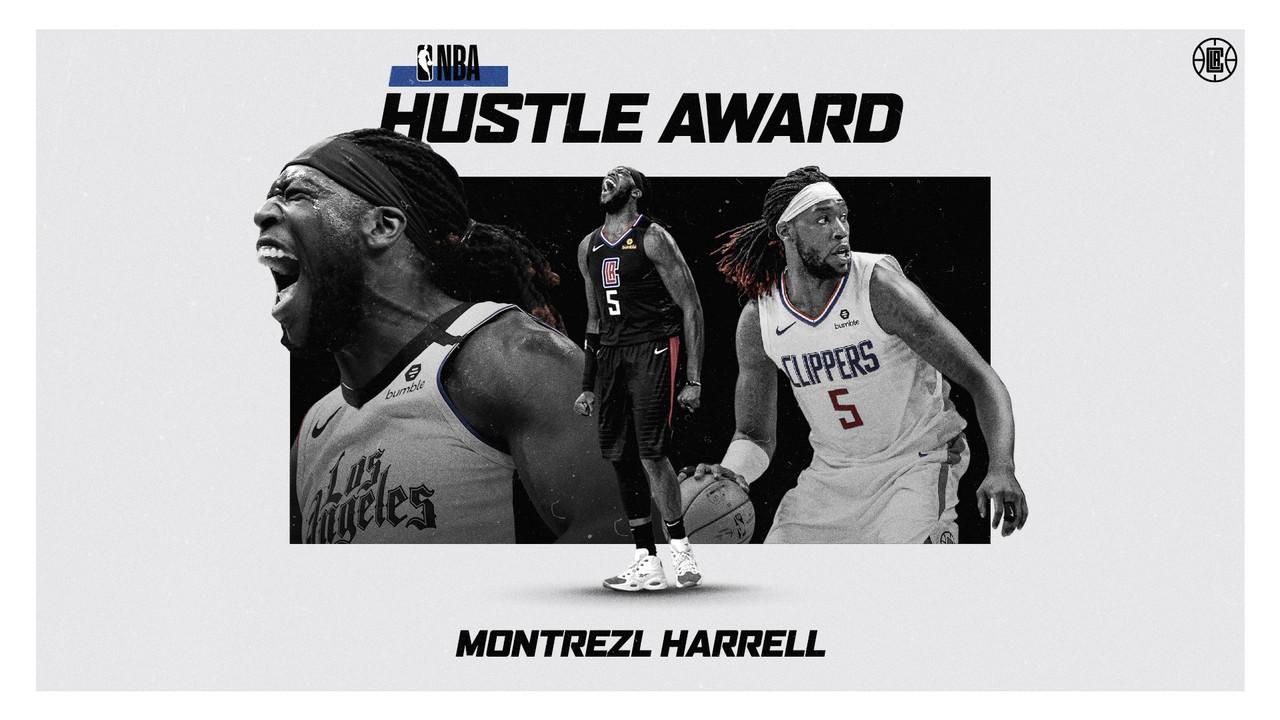 Harrell Wins 'Hustle' Award