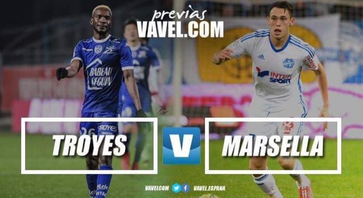 Previa Troyes - Olympique de Marsella: La tercera plaza y la salvación en juego