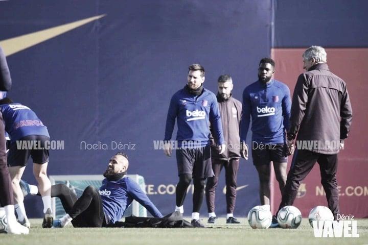 Setién ultima los preparativos para su estreno en el Camp Nou
