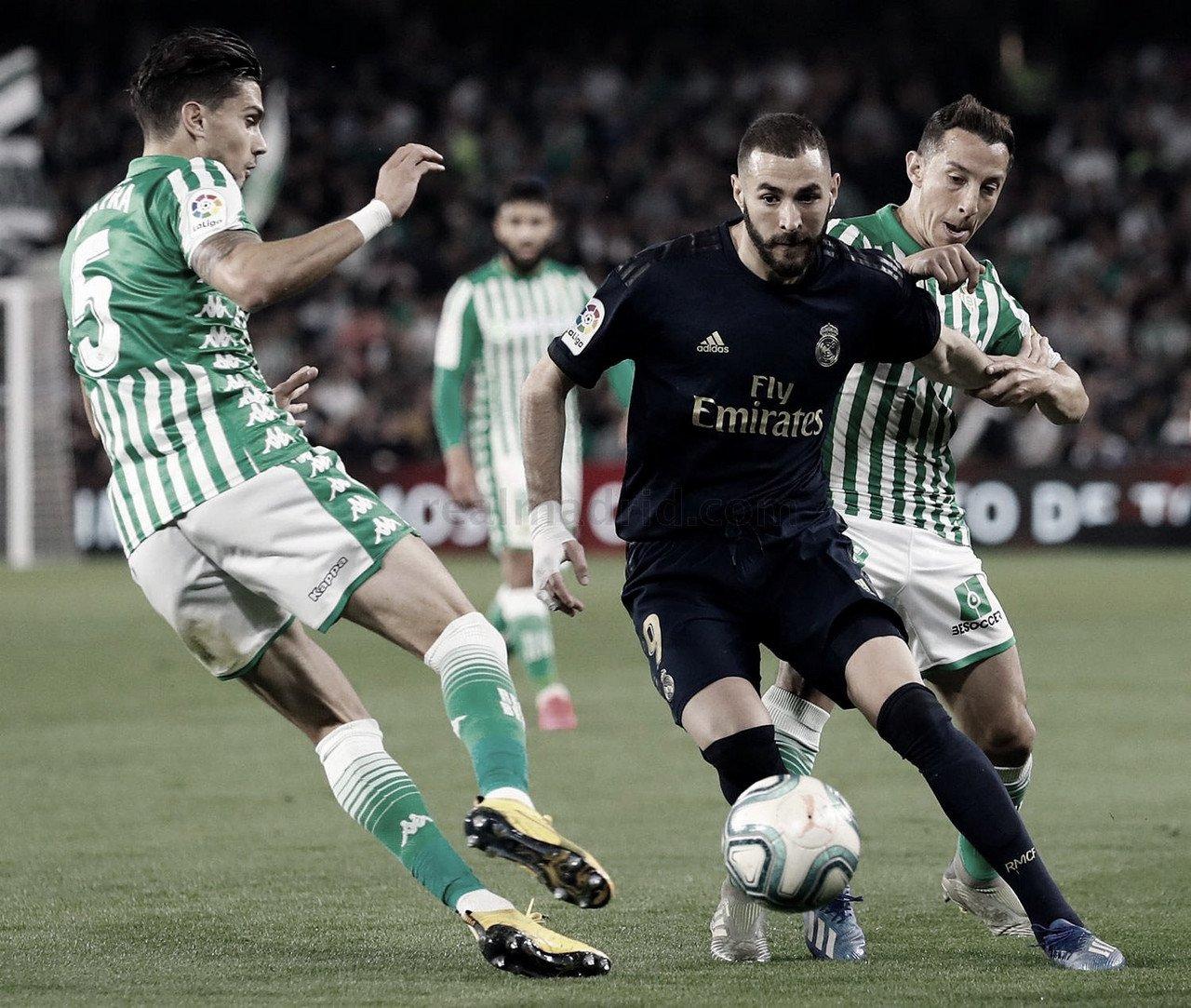 Benzema, triunfador en el Benito Villamarín