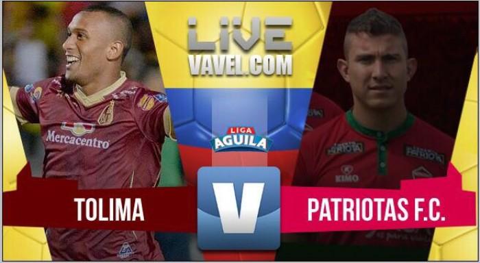 Deportes Tolima vs Patriotas en vivo y en directo online en la Liga Águila 2017-II
