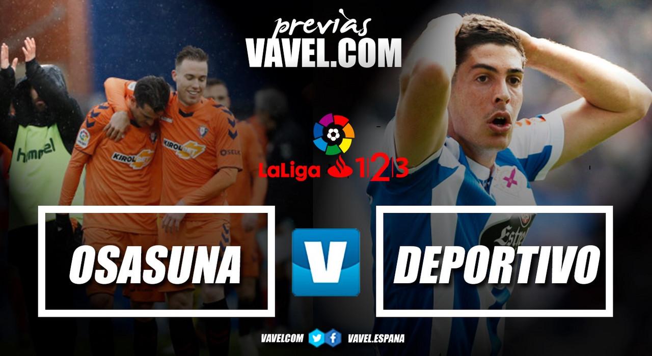 Previa Osasuna - Deportivo de La Coruña: Martí se estrena en El Sadar