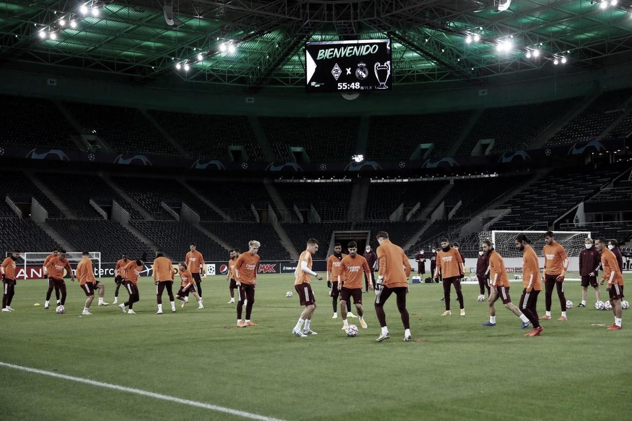 Entrenamiento del Real Madrid en el Borussia Park. Foto: www.realmadrid.com