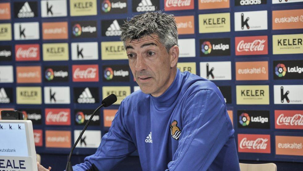 """Imanol Alguacil: """"El partido ante el Villarreal será muy abierto"""""""
