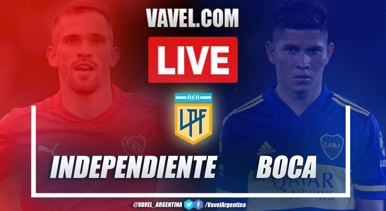 Resumen Independiente vs Boca Juniors (1-1) en la fecha 7 de la Copa de la Liga Profesional 2021
