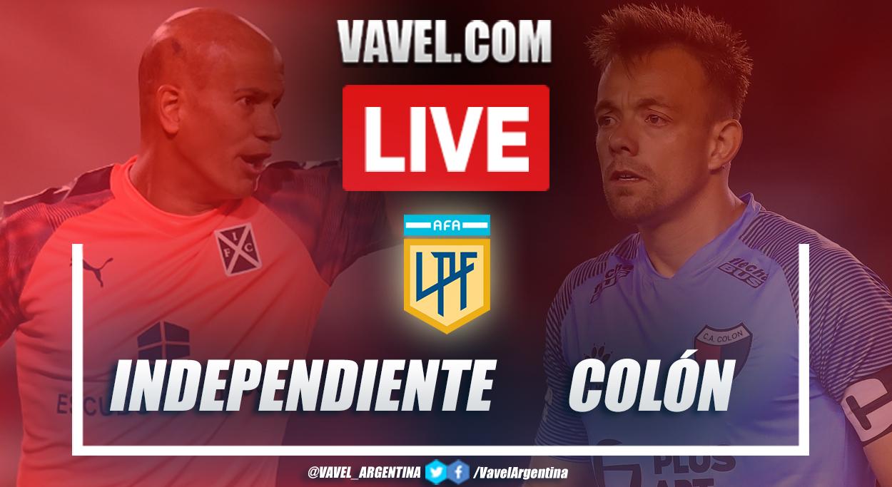 Resumen Independiente vs Colón (0-2) en semifinal por Copa de la Liga Profesional 2021