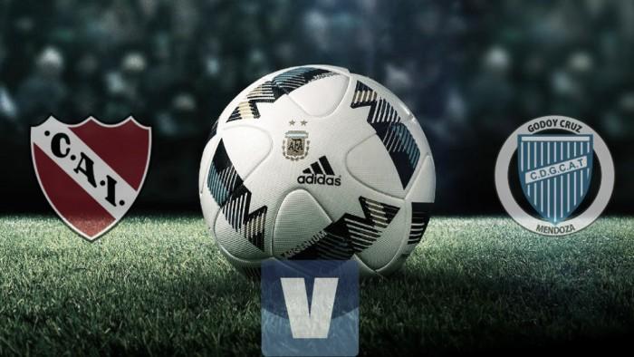 Independiente 2-0 Godoy Cruz en vivo y en directo online por el Torneo de Primera División