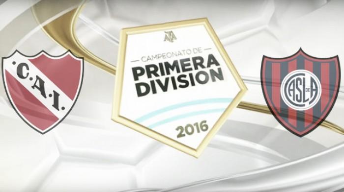 Resultado Independiente 0 - 1 San Lorenzo por el Torneo de Transición 2016