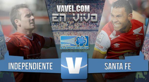 Resultado Independiente - Santa Fe en Copa Sudamericana 2015 (0-1)