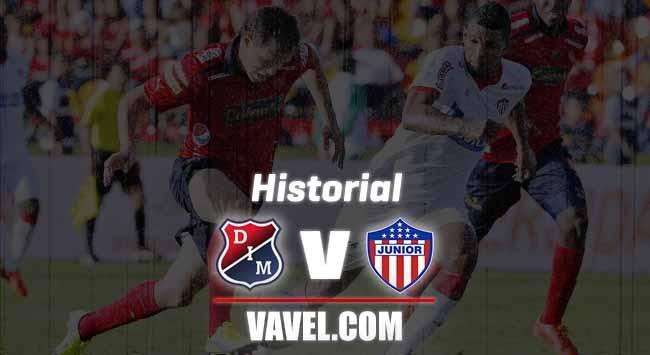 Historial entre Independiente Medellín y Junior de Barranquilla