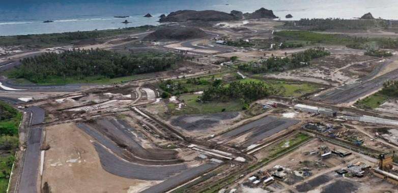 El Circuito Urbano Internacional de Mandalika en plena construcción. Foto: motogp.com
