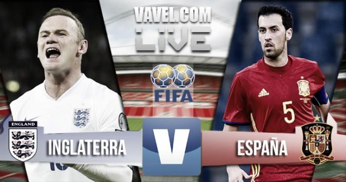 Inglaterra empata com a Espanha (2-2)