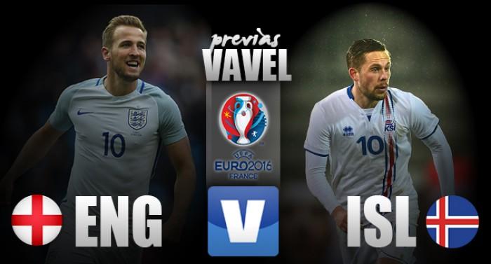 Inglaterra enfrenta surpreendente Islândia buscando vaga nas quartas da Eurocopa