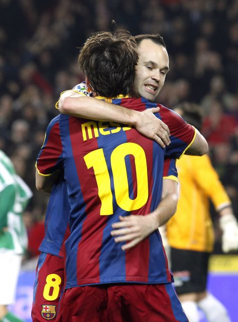 Messi e Iniesta se marcan la final de Wembley como objetivo