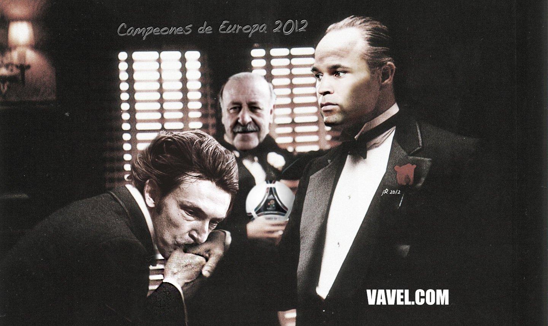 Licuadito de VAVEL.com dedicado a España, flamante campeona de la Eurocopa 2012. Ilustra jR.