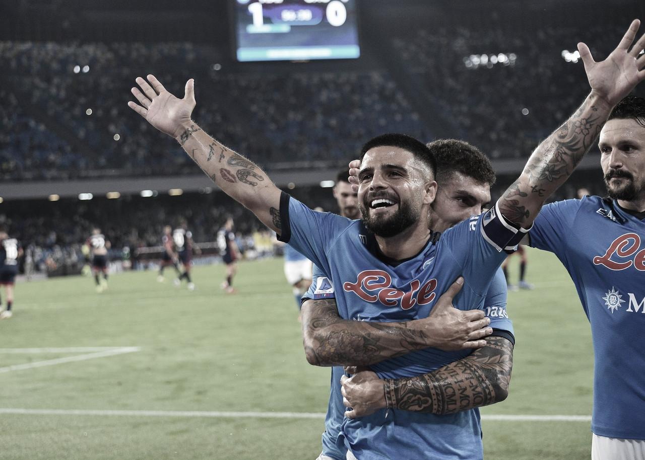 Napoli vence Cagliari em casa e continua 100% na Serie A