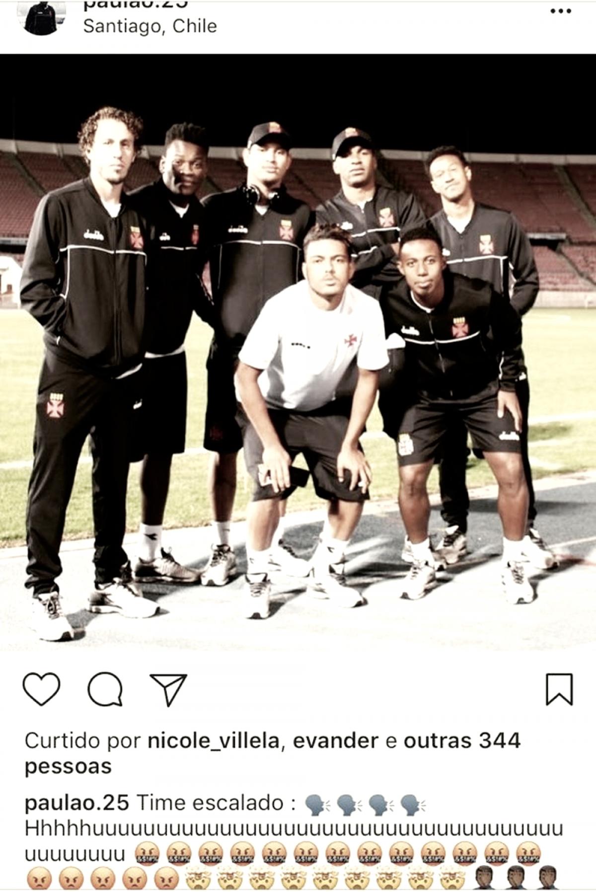 Vasco age rápido e afasta jogadores envolvidos em polêmica nas redes sociais