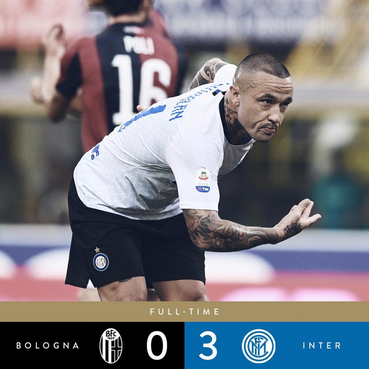 Serie A - Tra fatica, pazienza e tanta strategia l'Inter si impone sul Bologna (3-0)