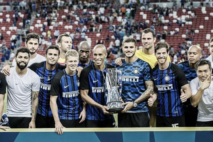Kondogbia marca gol contra do meio de campo, mas Inter bate Chelsea e vence Champions Cup